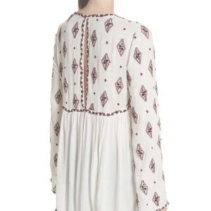 Free People Tops - Free People | Embroidered Bell Sleeve Tunic S